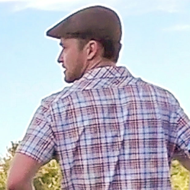 Justin Timberlake wore a hat to golf in Las Vegas.