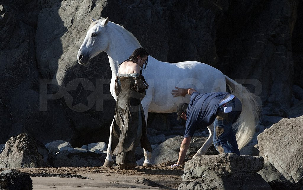 Kristen rode the horse without a saddle.