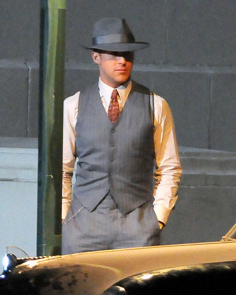 Ryan Gosling sported a three-piece suit.