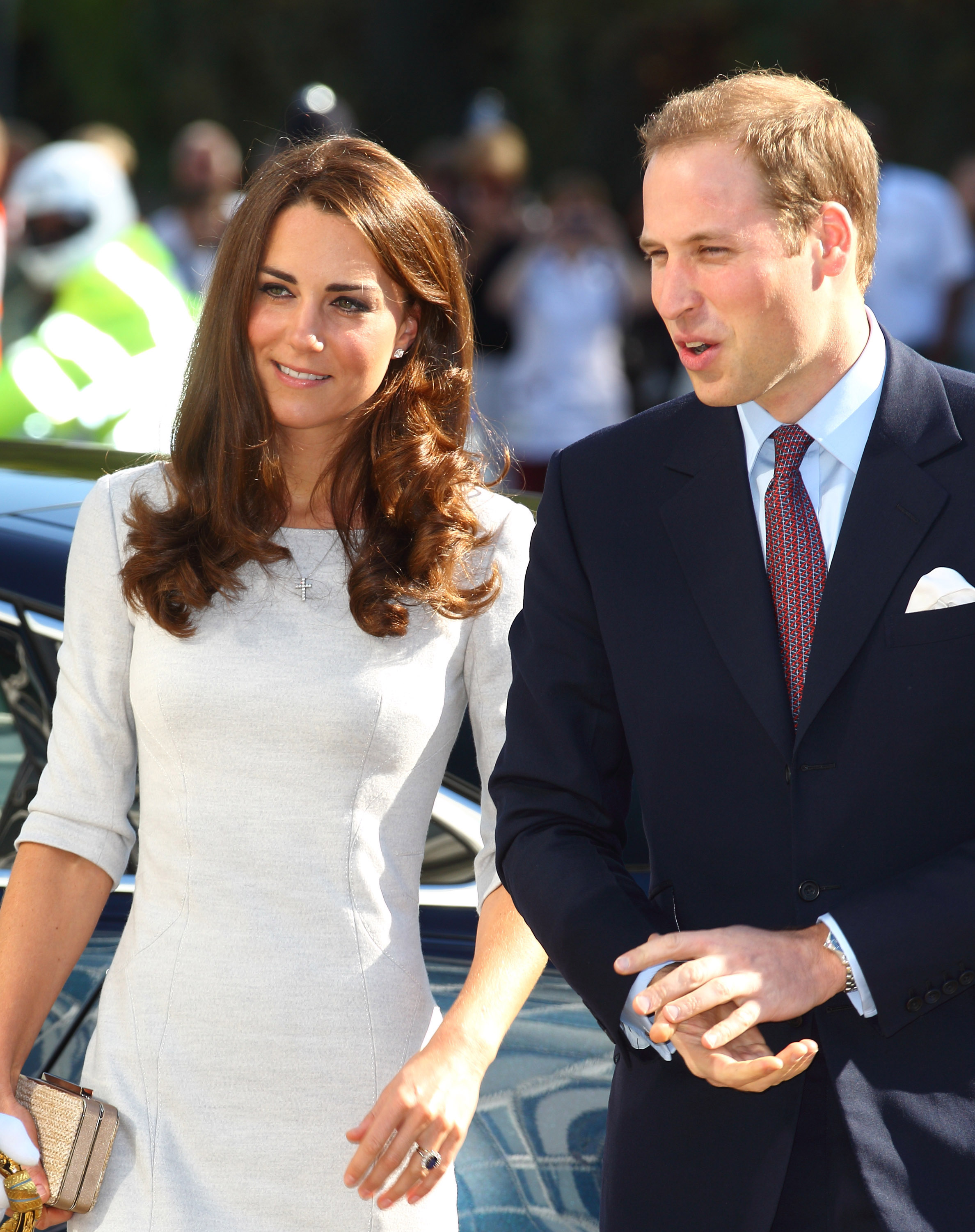Prince William and Kate Middleton attended the opening of a children's cancer center.