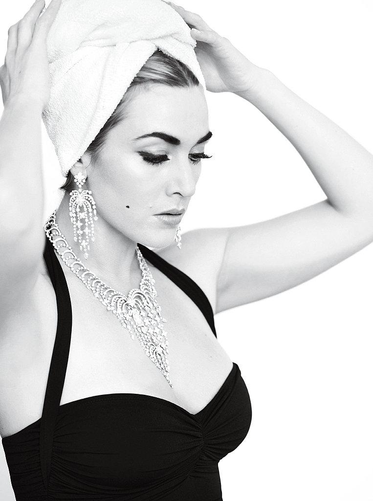 Kate Winslet got glam for an October 2011 V photo shoot.