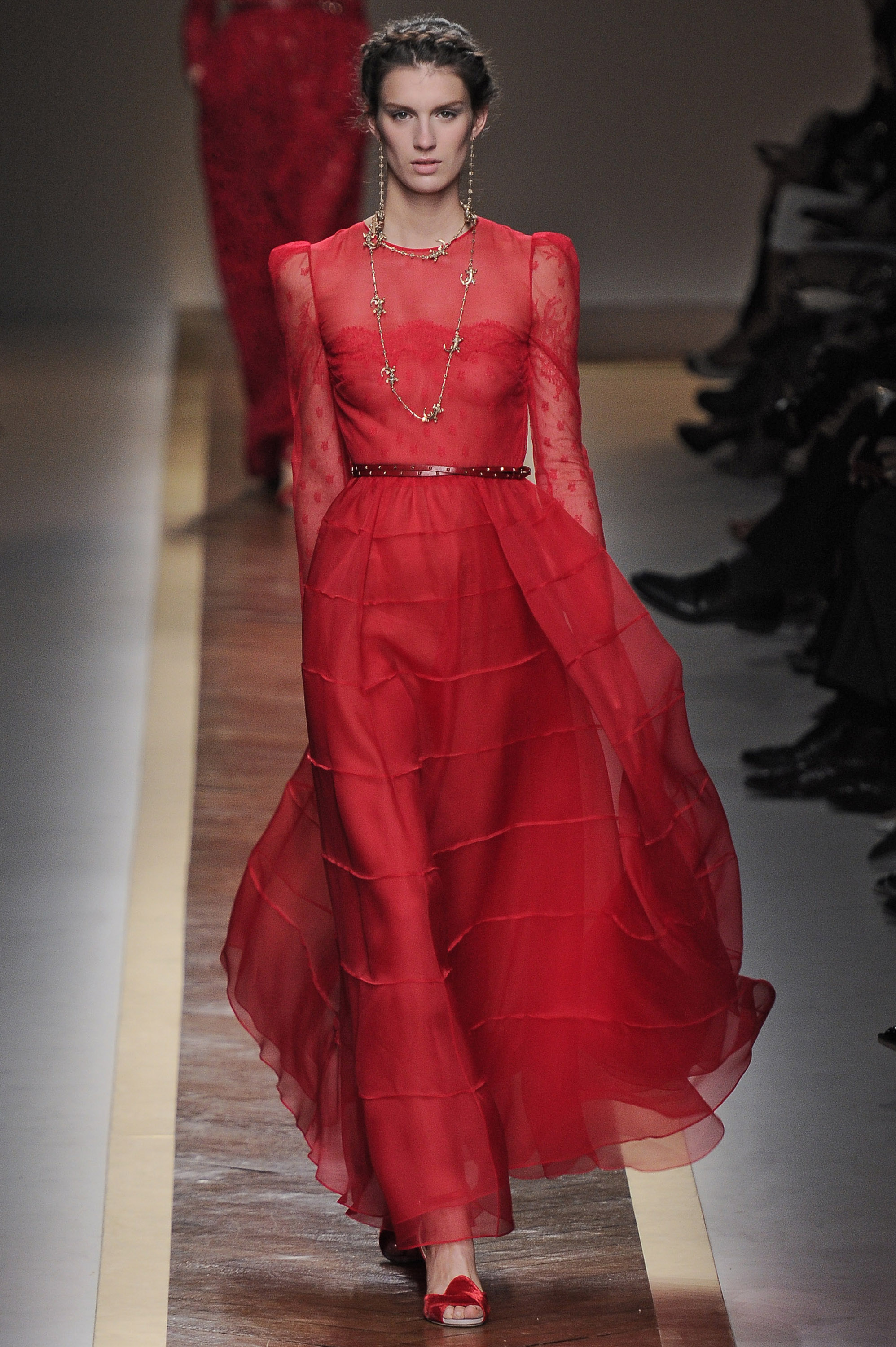 review and pictures of valentino runway show at 2012 spring summer paris fashion week popsugar