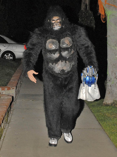 Jake Gyllenhaal covered up in a gorilla costume in 2007.