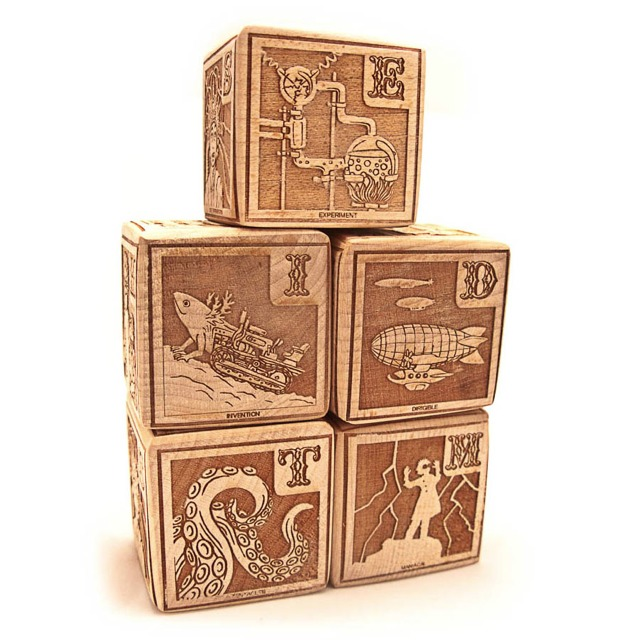 Young Mad Scientist Alphabet Blocks ($27)