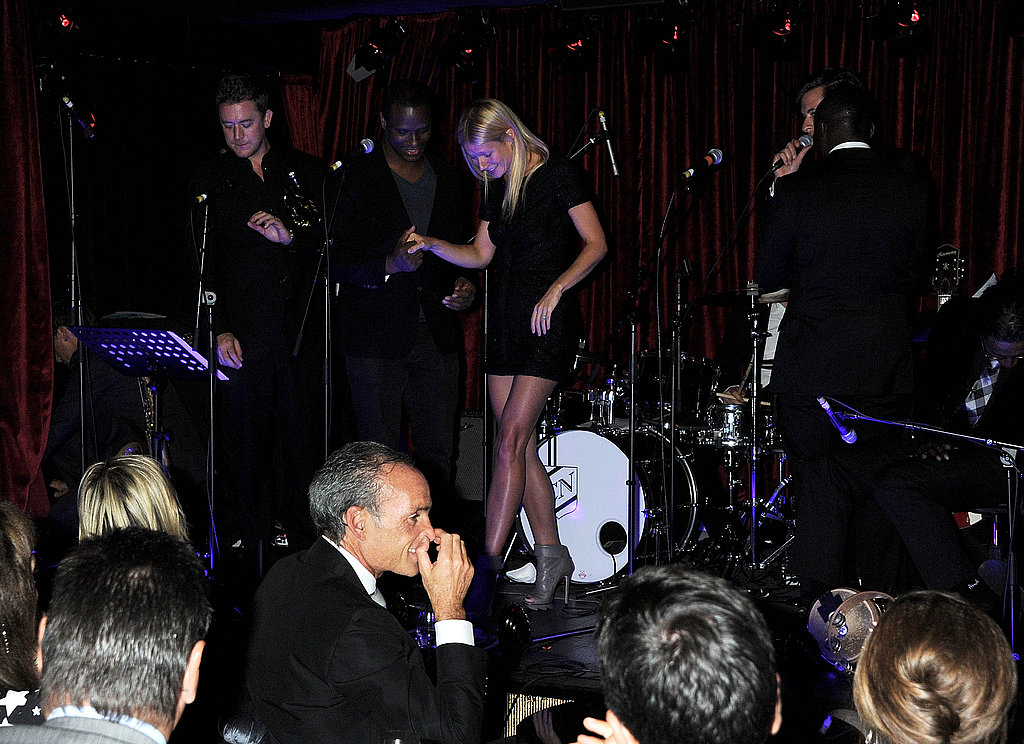 Gwyneth Paltrow moved around the stage during a performance in London.