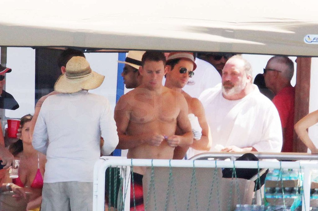 Matt Bomer and Channing Tatum were castmates and shipmates for the day.