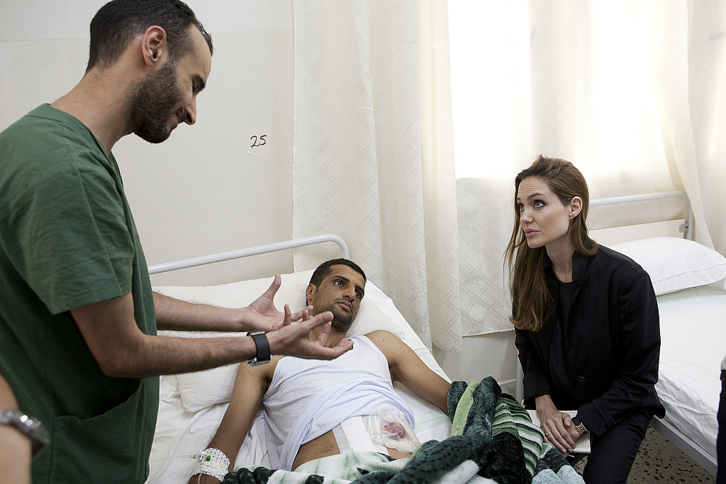 Angelina Jolie in Libya with UNHCR.