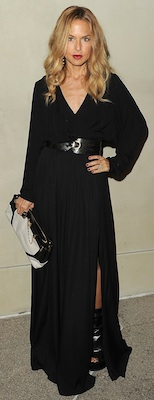 Rachel Zoe in Her Resort Collection Dress and RZ Collection Accessories