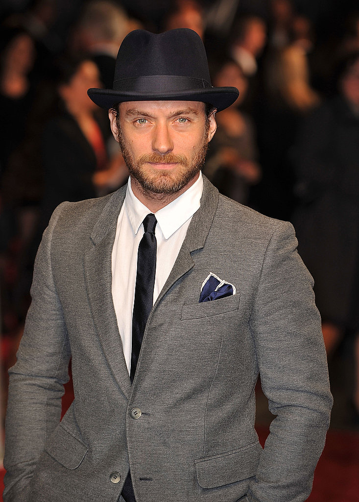 Jude Law on the red carpet at the London Film Festival.