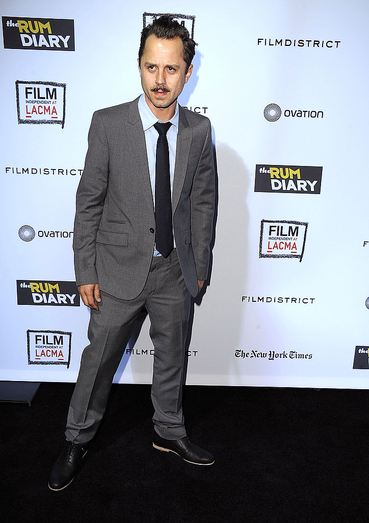 Giovanni Ribisi took a wide stance on the red carpet at the premiere of The Rum Diary in LA.