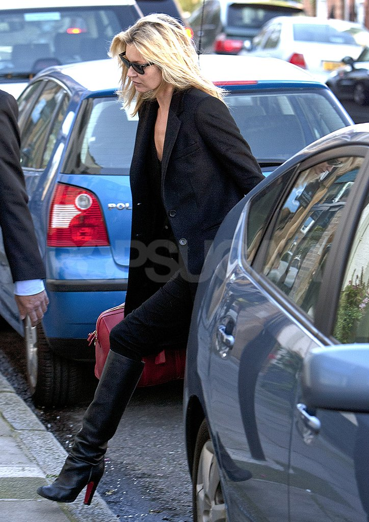 Kate Moss ran errands in London.