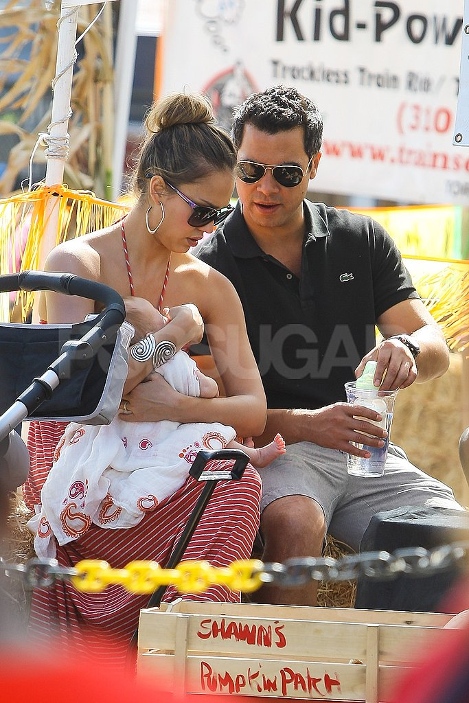 Jessica Alba and Cash Warren doted on baby Haven.