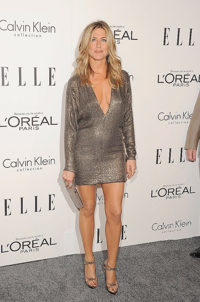 Jennifer Aniston made her way into an event in LA.