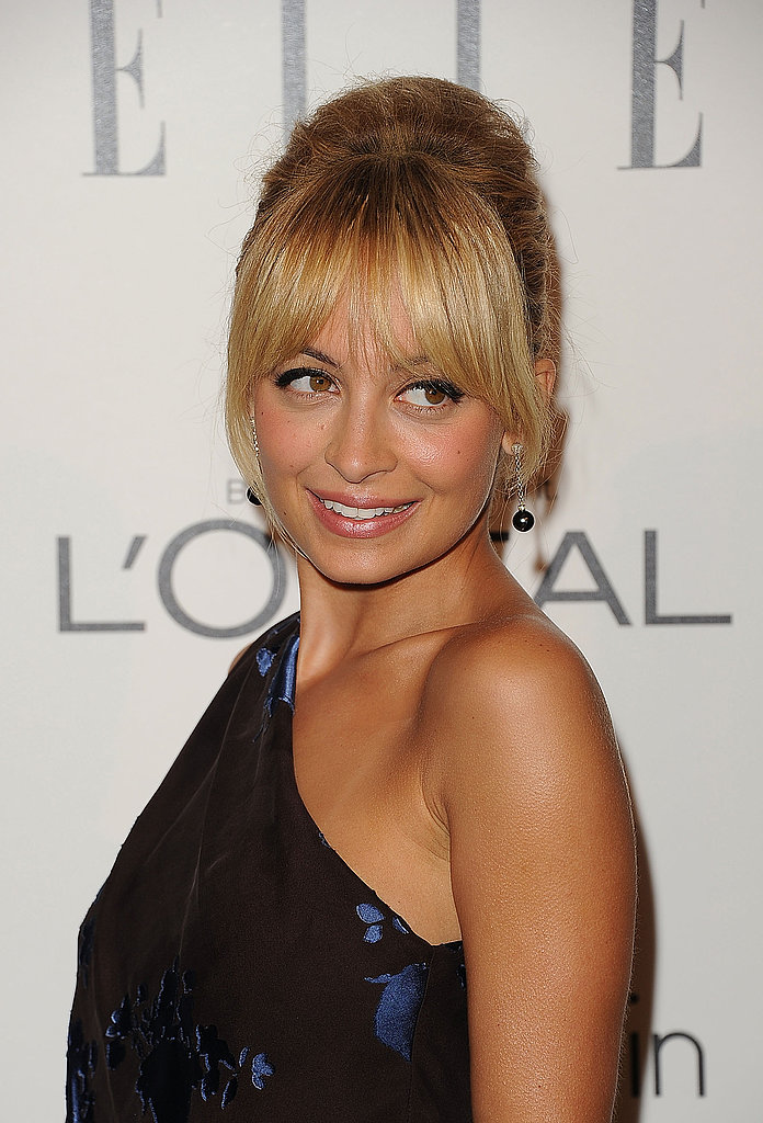 Nicole Richie went for old-Hollywood glamor.