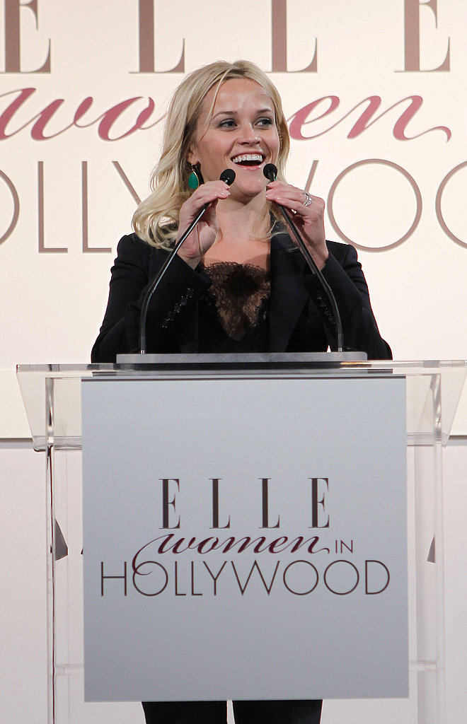 Reese Witherspoon gave a speech in honor of women in Hollywood.