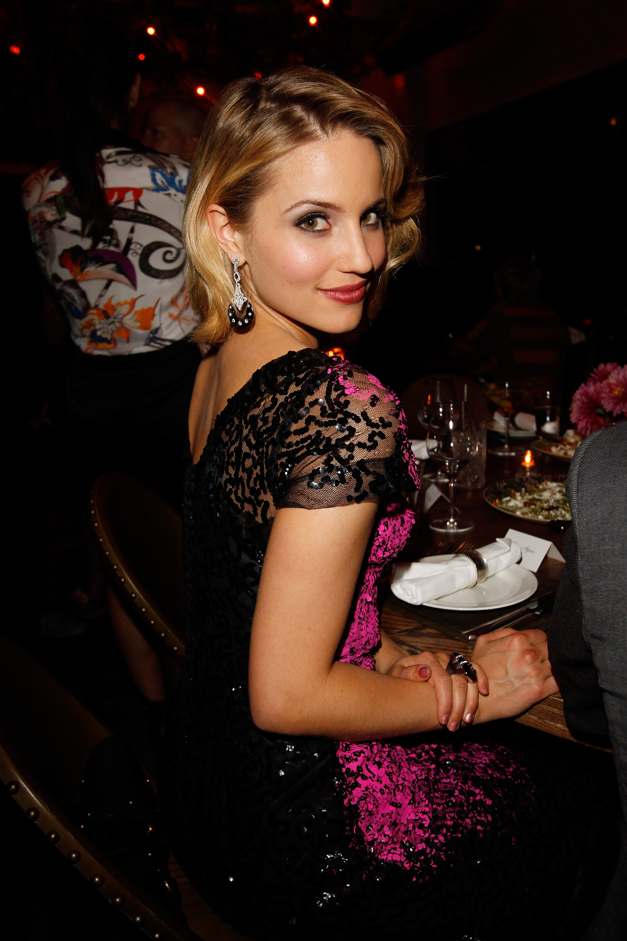 Dianna Agron celebrated the CFDA Fashion Fund finalists in LA.