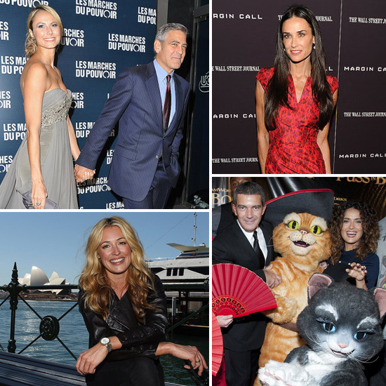 Celebrity Pictures of George Clooney, Stacy Keibler, Demi Moore, Elle Macpherson, Antonio Banderas