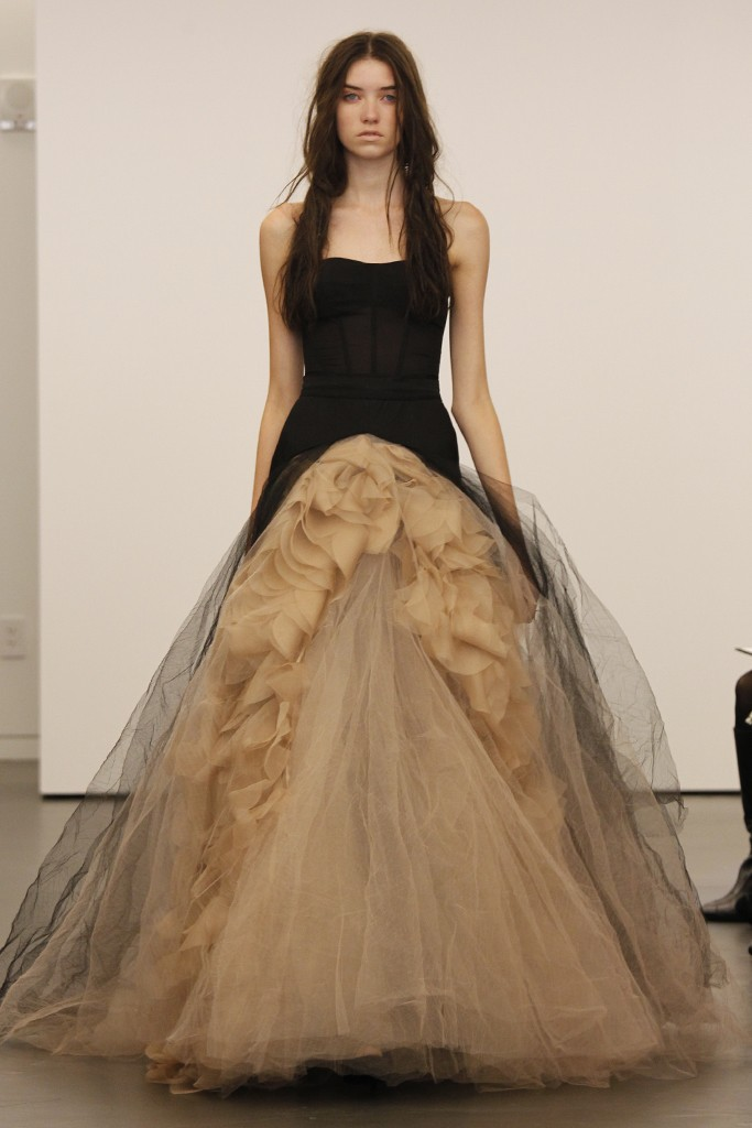 Vera wang black wedding dresses pictures popsugar fashion for New vera wang wedding dresses