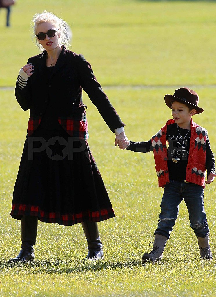 Kingston and Gwen layered up for their park date.