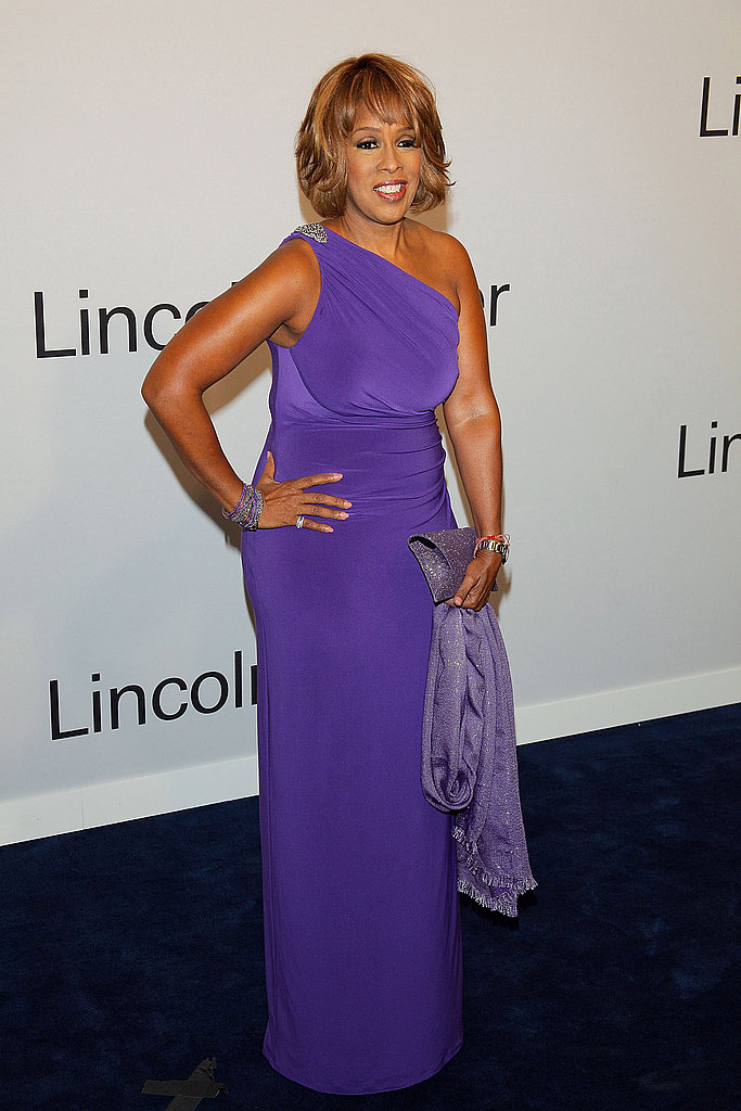 Gayle King came out to support Oprah in NYC.