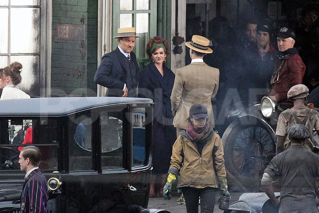 Joel Edgerton and Isla Fisher kept close on the set of The Great Gatsby.
