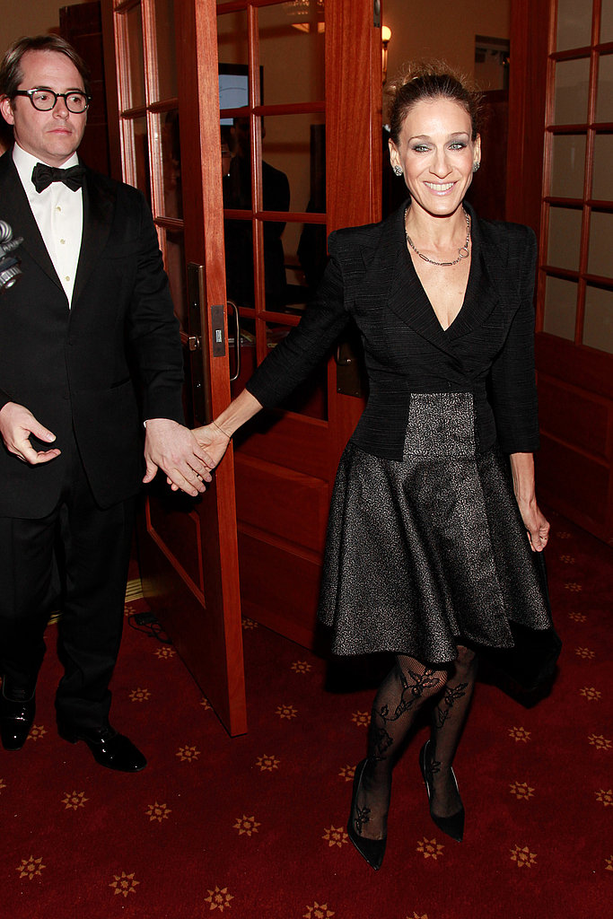 Sarah Jessica Parker and Matthew Broderick held hands at the New York City Center.
