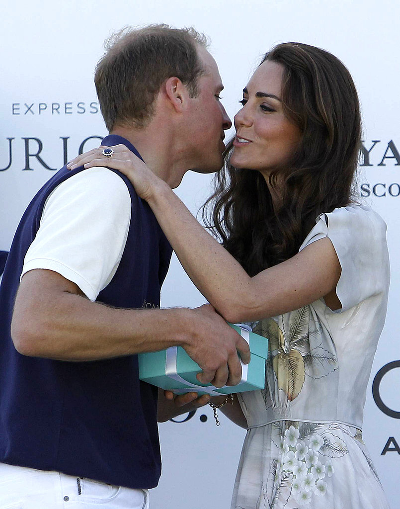 Kate awarded her husband his prize at a 2011 polo match in Santa Barbara with a kiss.