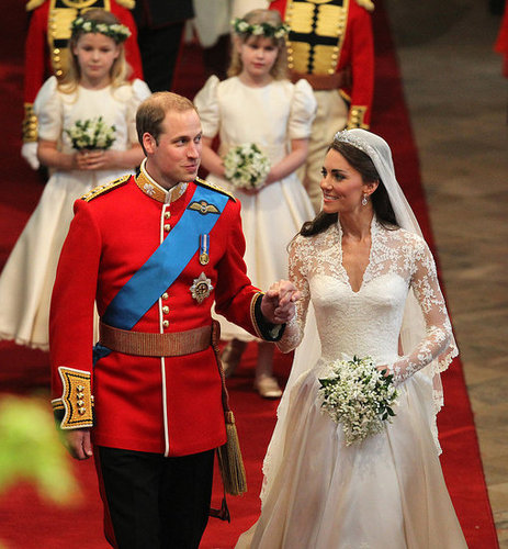 On April 29, 2011, Will and Kate held hands during their first minutes as newlyweds!