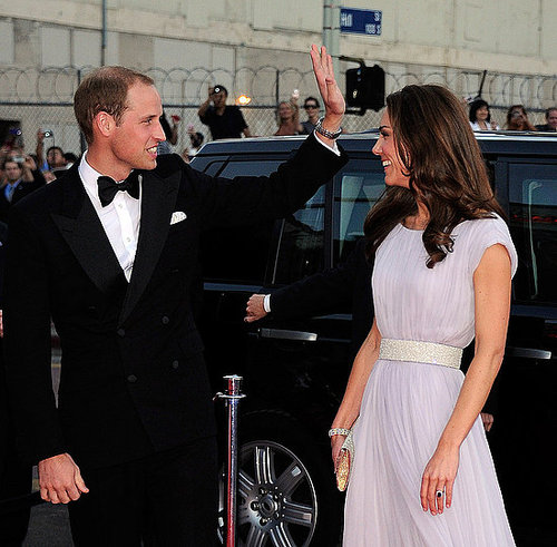 Kate gave William a smile as he waved to fans at a 2011 BAFTA event in LA.