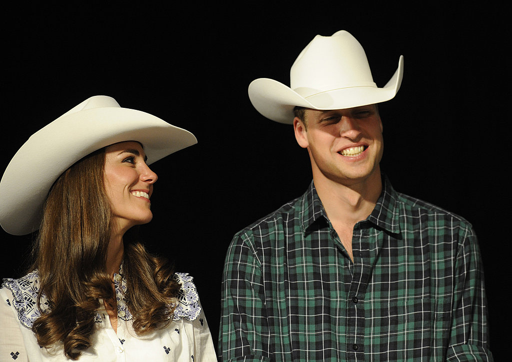 Prince William and Kate wore cowboy hats in Calgary during their 2011 tour of North America.