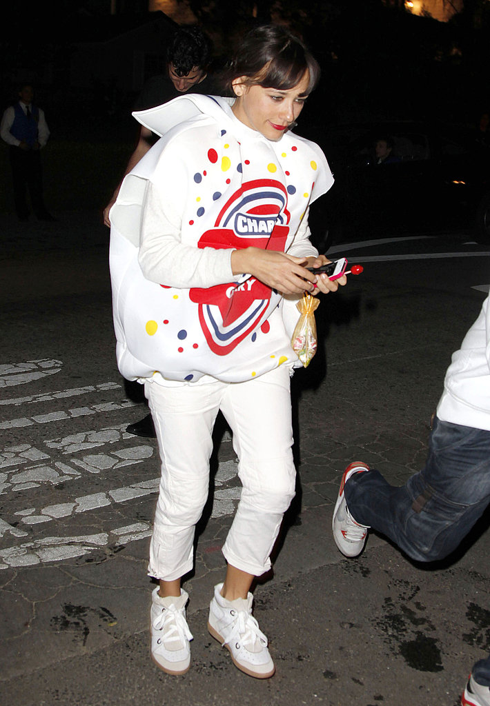 Rashida Jones dressed as an adorable Blow Pop in 2011.