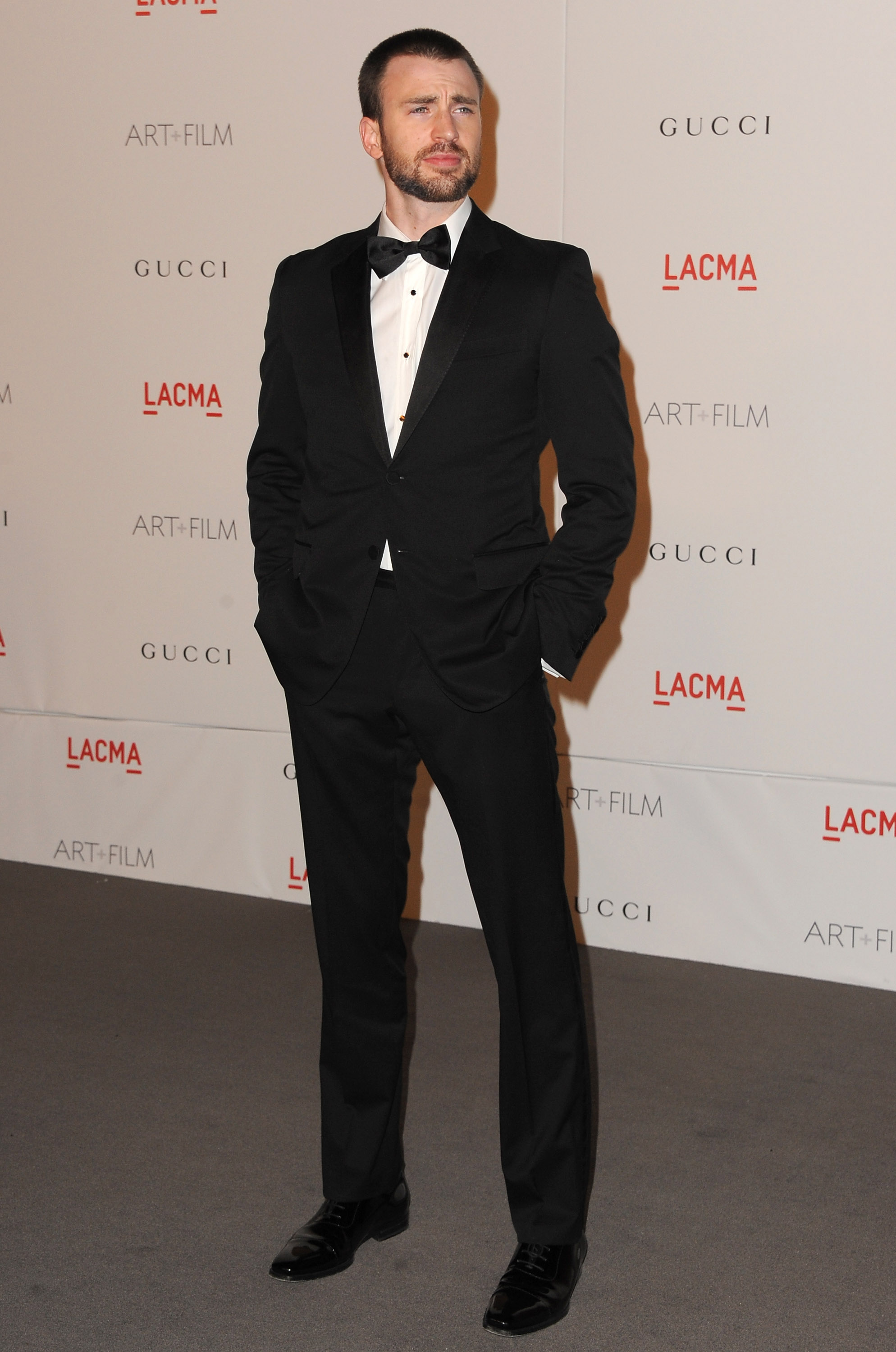 Chris Evans at a Gucci-sponsored LACMA bash.