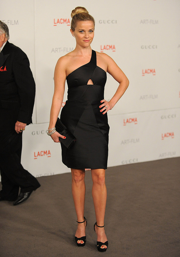 Reese Witherspoon in a chic black dress.