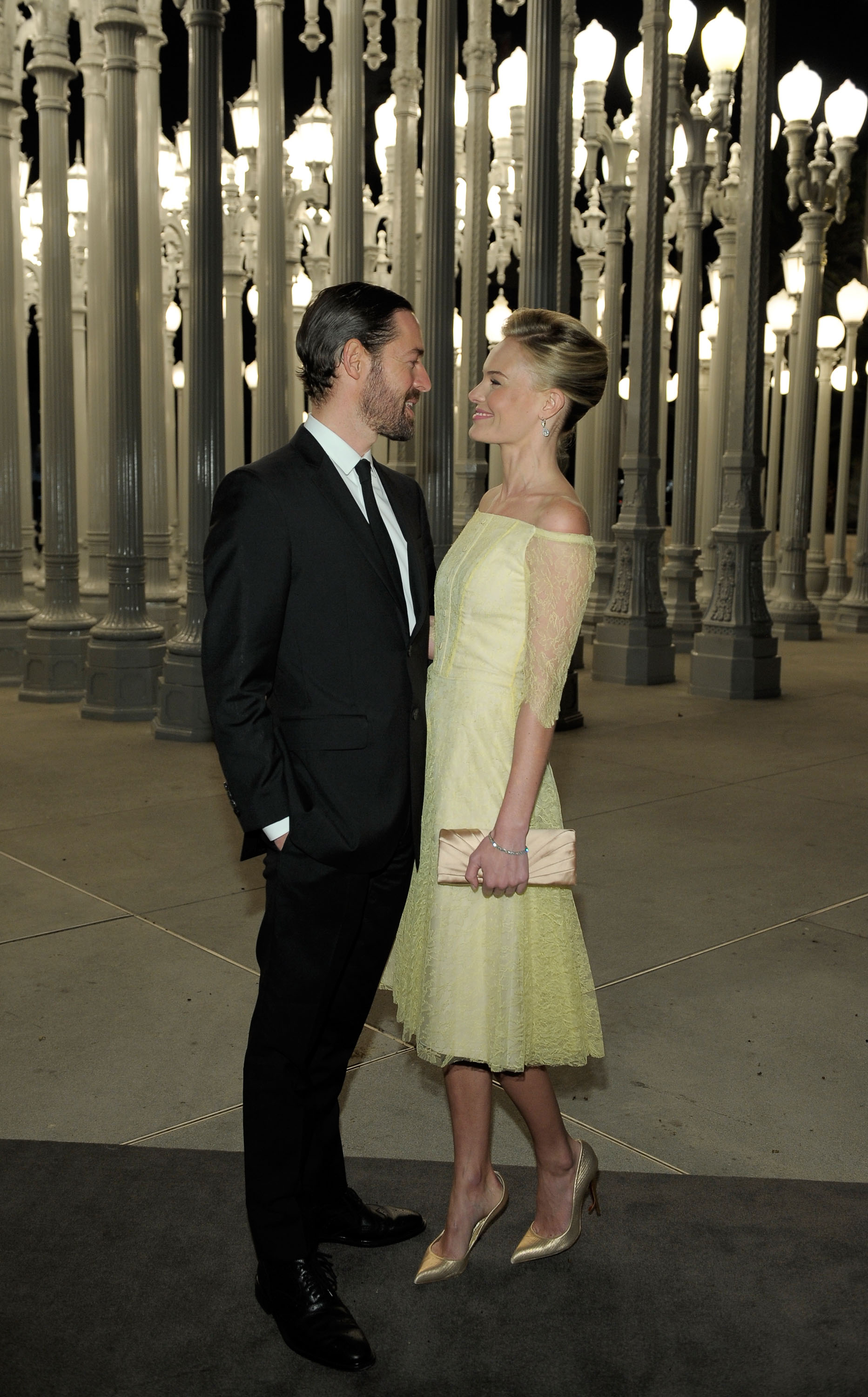 Kate Bosworth and boyfriend Michael Polish shared a look of love.