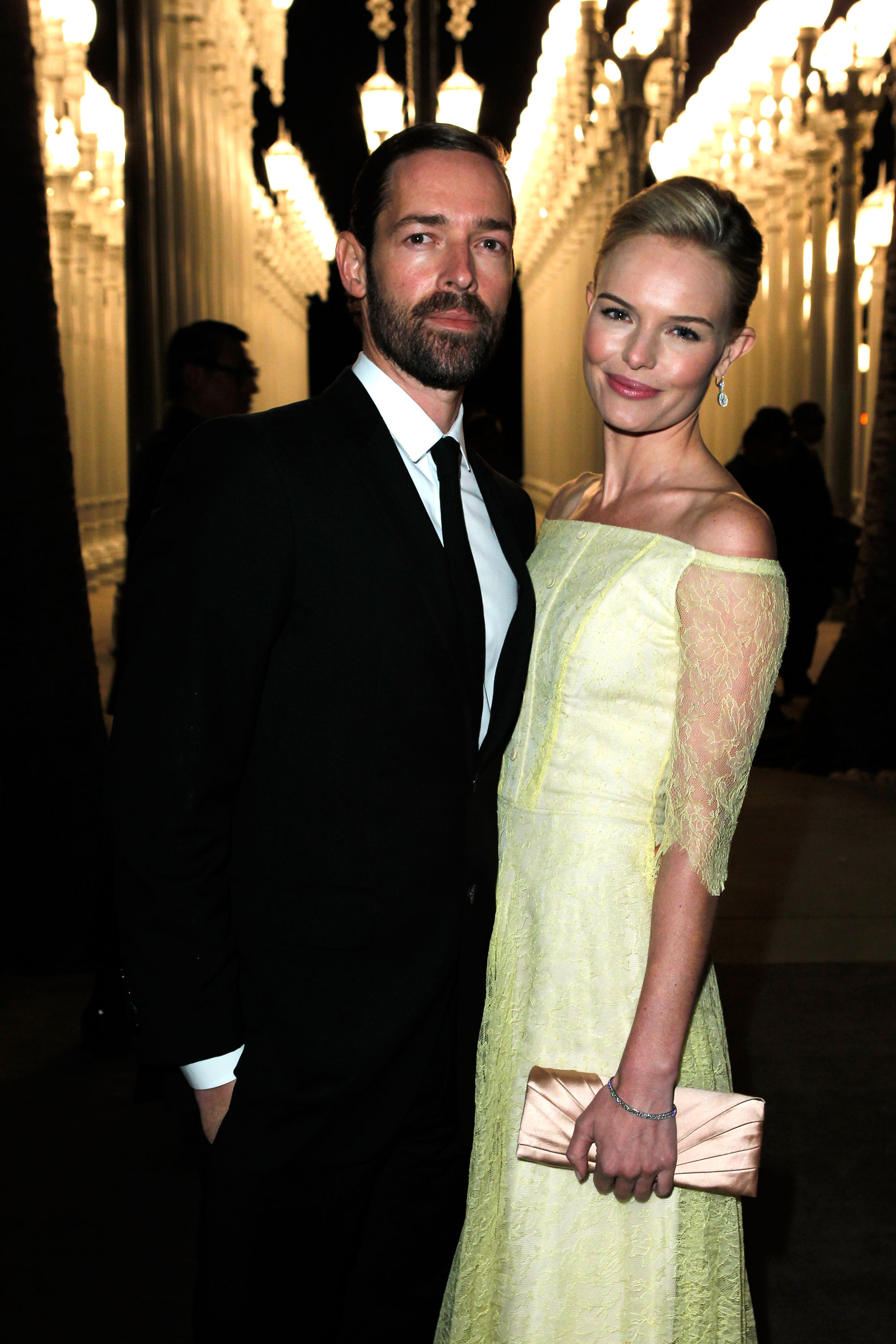 Kate Bosworth posed for a photo with Michael Polish.