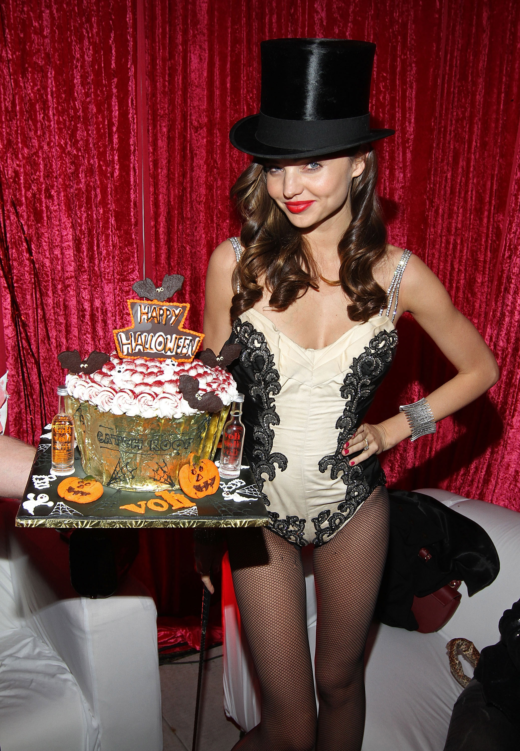 Miranda Kerr enjoyed sweet treats on Halloween.