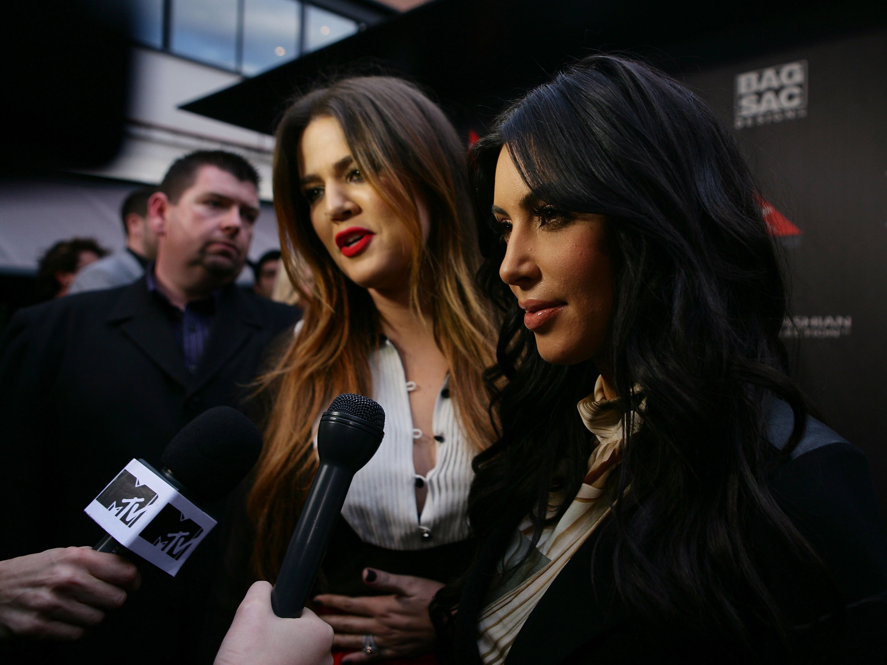 Kim and Khloe Kardashian answered questions about the Kardashian Kollection.