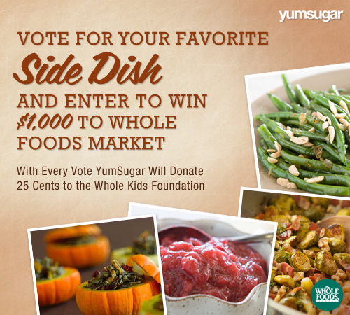 Thanksgiving Side Dish (Recipes) and Whole Foods Market Gift Card