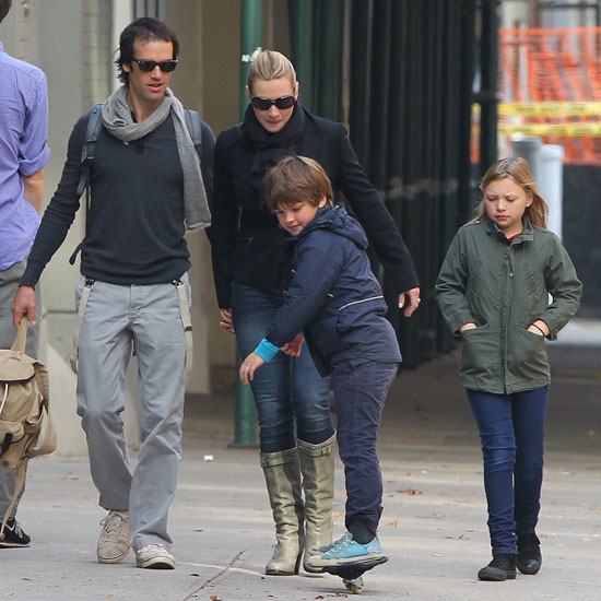 Kate Winslet With Ned Rocknroll and Her Kids Pictures