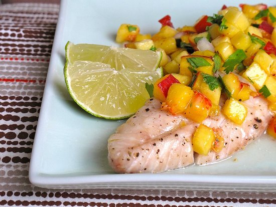 Baked Rockfish With Seasonal Salsa