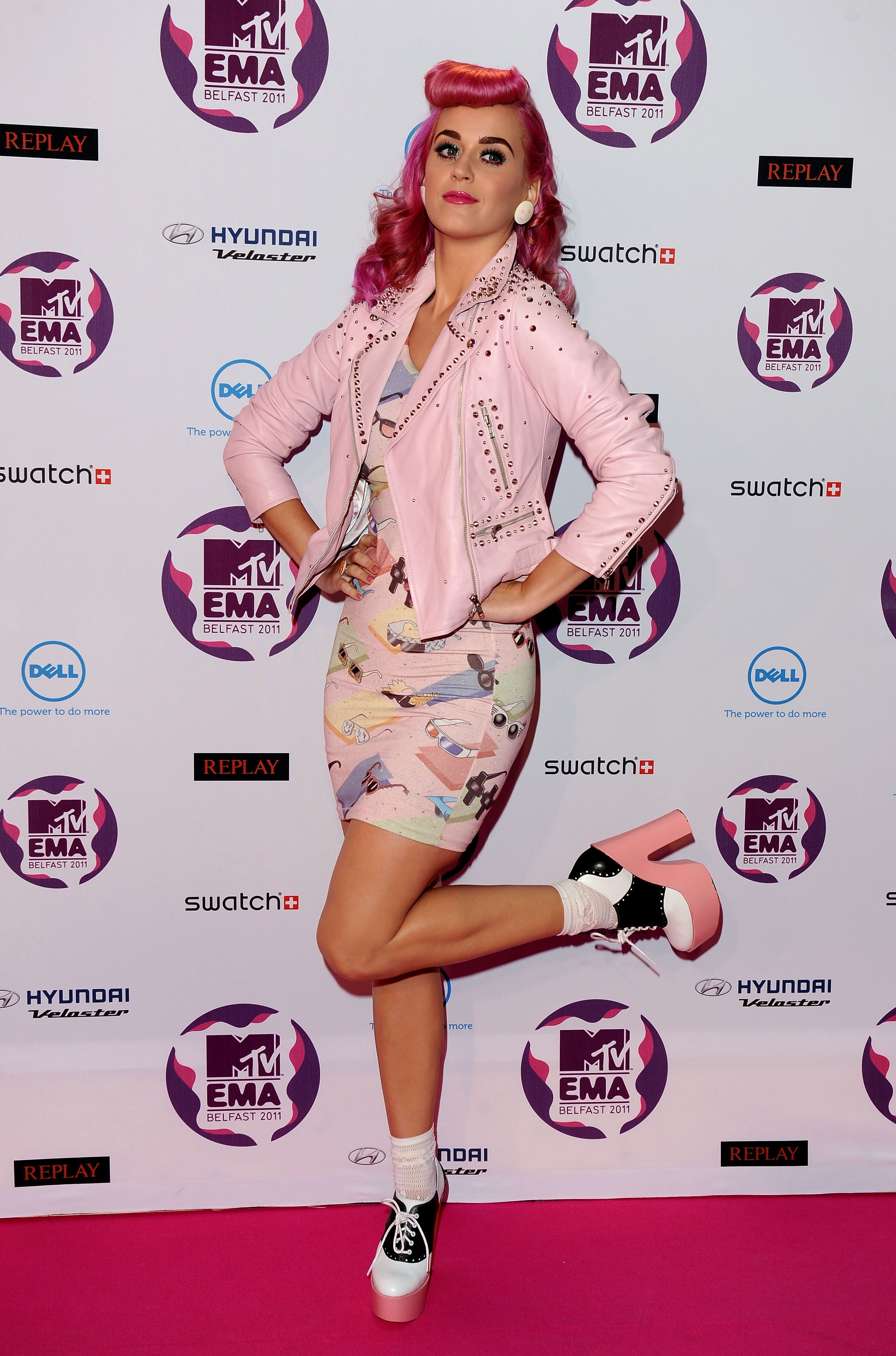 Katy Perry got playful while posing.