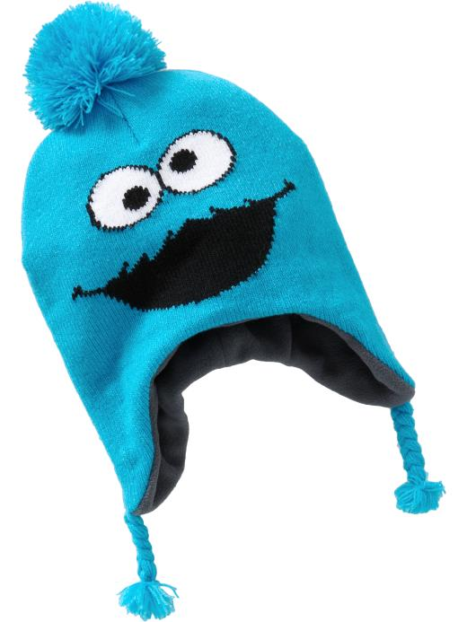 Cookie Monster Trapper Hat For Baby