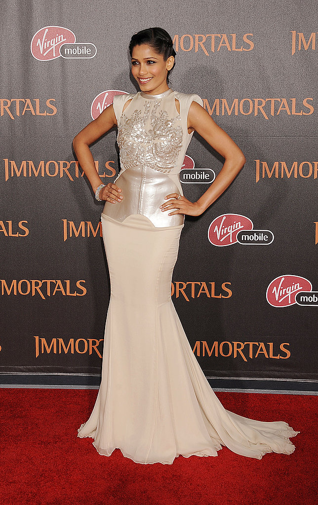 Freida Pinto at the Immortals premiere.