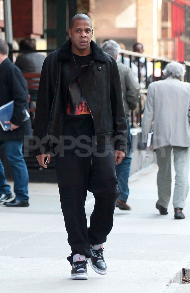 Jay-Z headed out for a morning walk in NYC.
