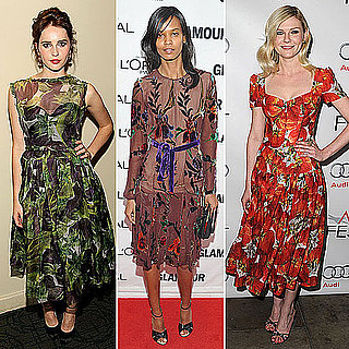 Celebrities Wearing Floral Print Dresses Fall 2011