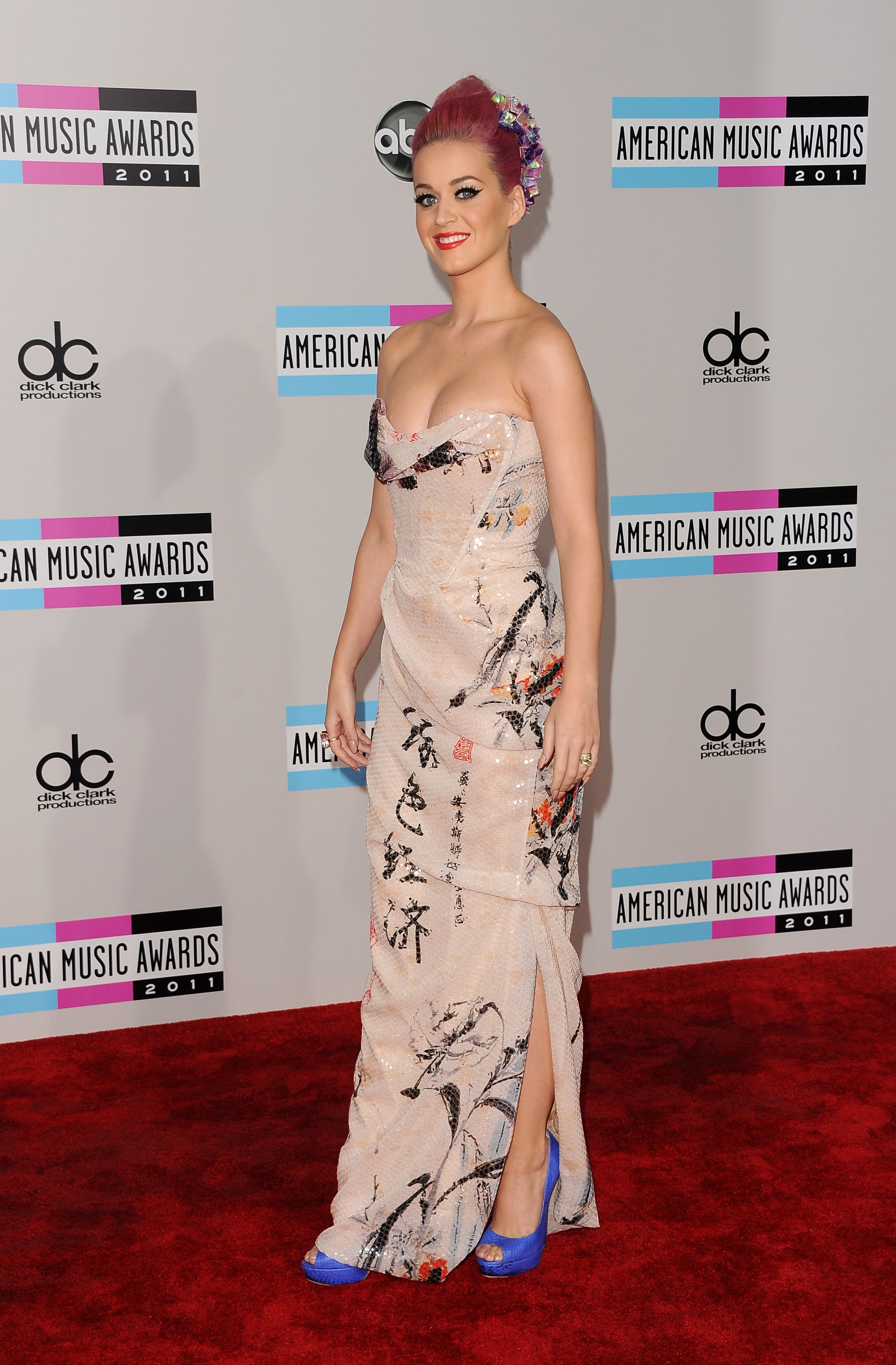 Katy Perry arriving at the American Music Awards.