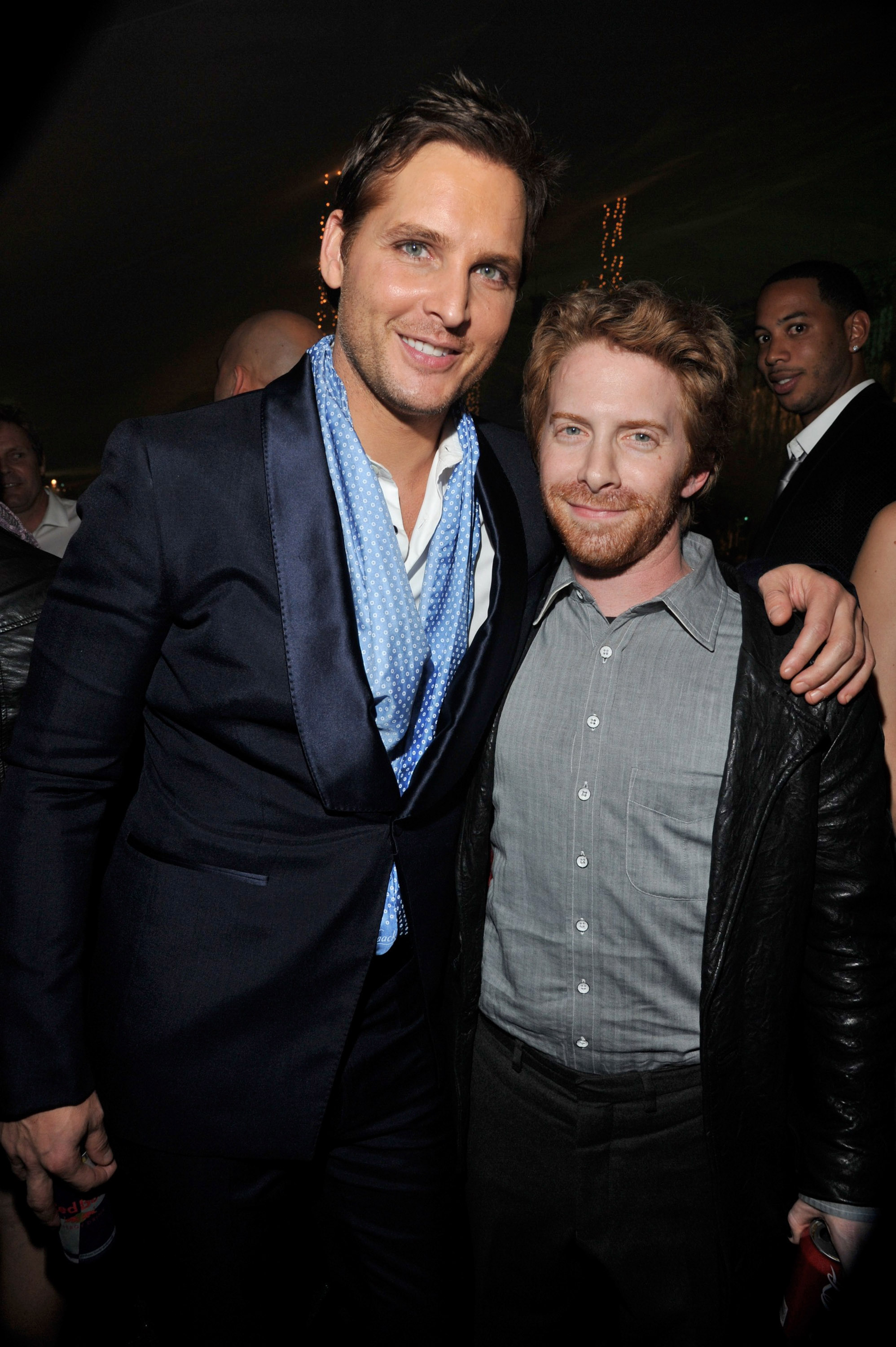 Seth Green congratulated Peter Facinelli at the Breaking Dawn afterparty.