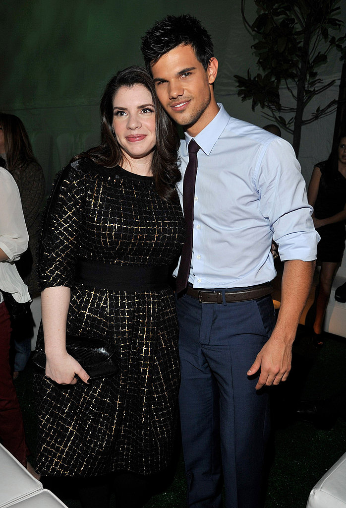 Taylor Lautner and Stephanie Meyer went out to celebrate the Breaking Dawn premiere in LA.