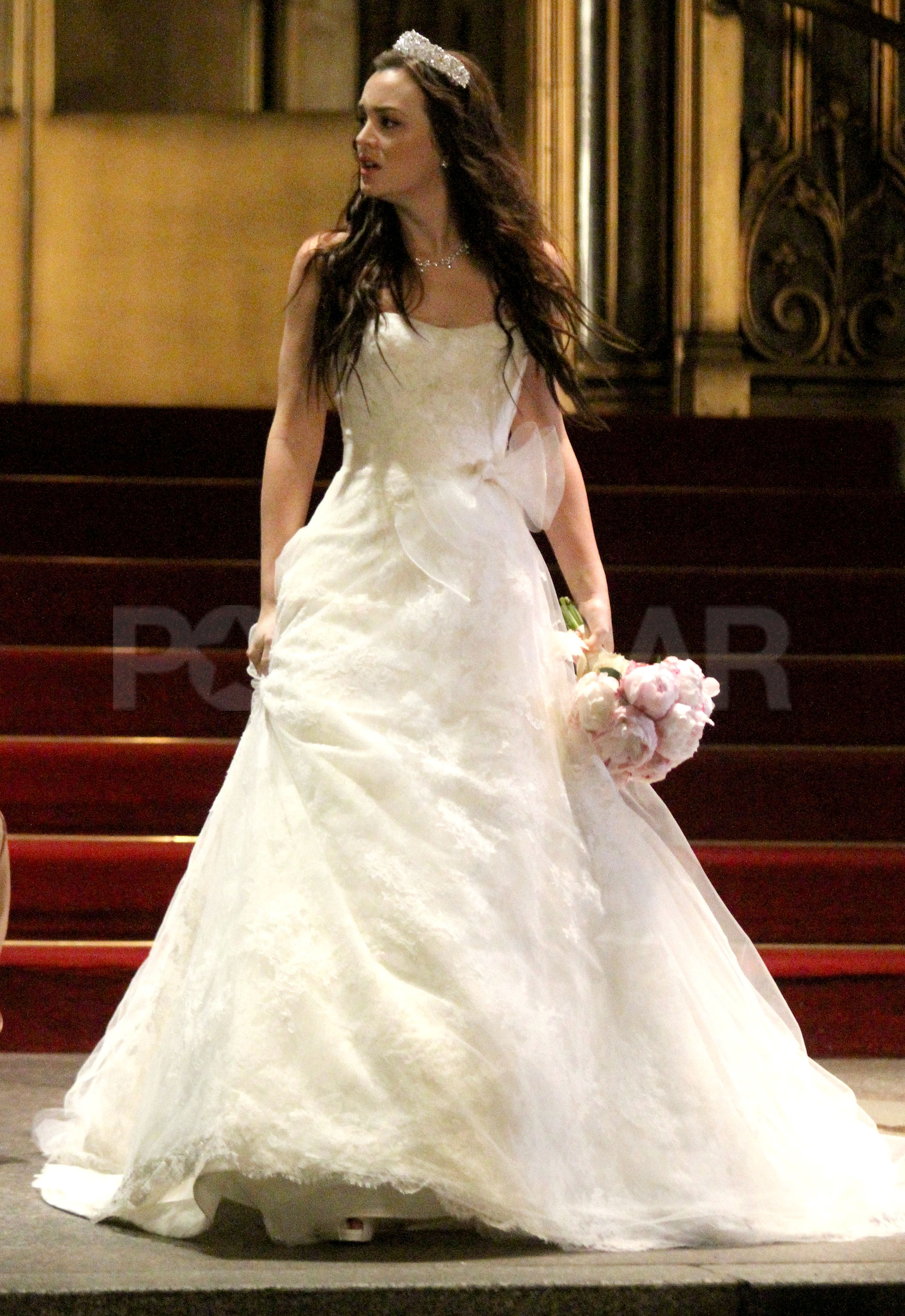 Celebrity entertainment see leighton meester in blair for Blair waldorf wedding dress