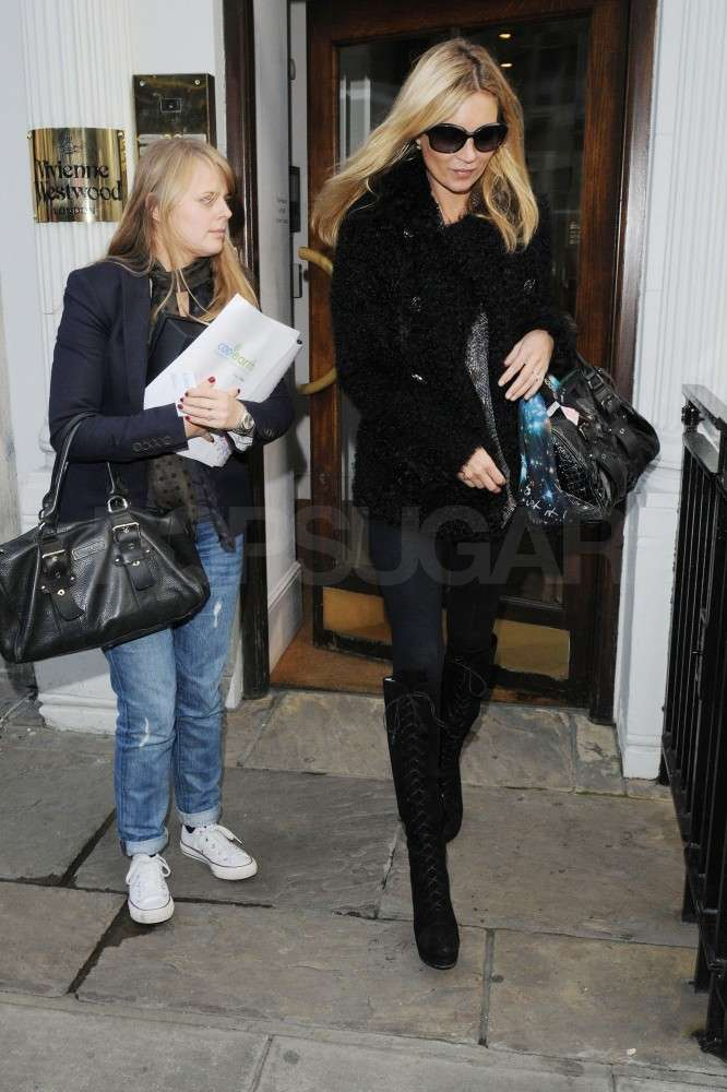 Kate Moss headed out of Vivienne Westwood.